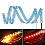 Best Daytime Running Led Strips - 2PC 24 Inch Dual Color Red/Sequence Amber LED Review