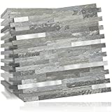 DICOFUN 10-Sheet Peel and Stick Backsplash Wall Tile, PVC Kitchen...