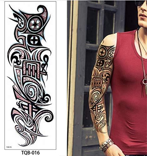 Zhuhuimin 3pcs Männer Full Arm Tattoo Legionär Soldat Soldat Schwarz Tattoo Aufkleber Große wasserdichte Tattoo Cool Girl Body Art