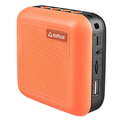 Stuffcool Theo Portable TWS (True Wireless Stereo) Bluetooth Speaker with Mic - Orange