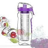 BPA Free Fruit Infuser Water Bottle Juice Shaker Sports Lemon Water Bottle Fitness