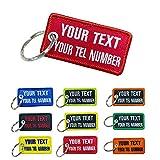Graceful life Porte-clés personnalisé, étiquette de numéro de nom personnalisé, accessoires de porte-clés personnalisés, porte-clés brodé pour moto, voiture, VTT