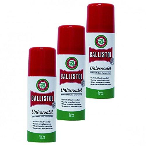 BALLISTOL Spray, 3 Dosen a 50 ml Waffenöl Kriechöl Pflegeöl 21450