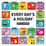 TF PUBLISHING - 2022 Every Day's A Holiday Wall Calendar - Home and Office Organization - Large Monthly Grid and Notes Section for Plans - 12'x12'