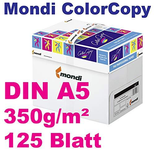 Mondi ColorCopy Kopierpapier 350g/m² DIN A5 VE = 125 Blatt für Laserdrucker und InkJet geeignet