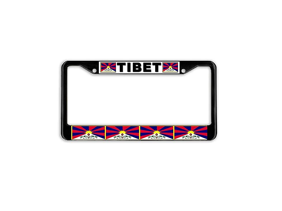 Hopes's Customized Aluminum Metal Car Auto License Plate Frame Holder Black Standard Size for US Vehicles