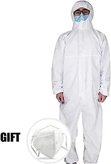 WMOFC Tuta Protettiva,Tuta per Isolamento,Medico Ospedale Abbigliamento di Sicurezza Tuta Antistatica Antipolvere Cotone Elastici Impermeabile per Chimiche Polveri
