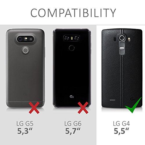 kwmobile Funda para LG G4 - Carcasa de Tela y Cuero sintético ...