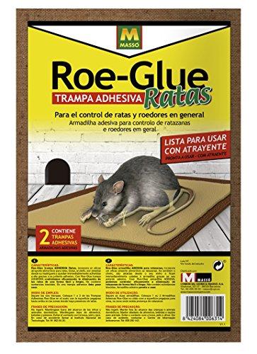 Roe 231556 Trampa Adhesiva Ratas, Marrón, 19x28x2 cm
