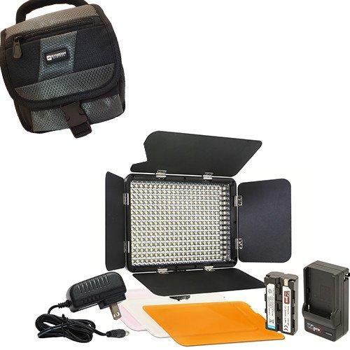 Toshiba CAMILEO X200 Camcorder Lighting Vidpro Ultra-Slim LED-330 Professional Video and Photo LED Light Kit- with SDC-27 Case