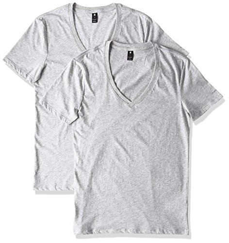 G-STAR RAW Base V T S/S 2-Pack T-shirt, Gris (grey htr 906), FR (Taille fabricant: XX-Large) Homme