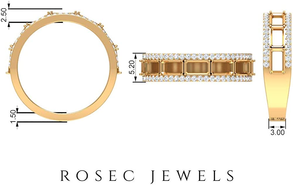 Vintage Wedding Ring, 2 CT 5X3 MM Octagon Shape Ruby Lab Created Ring, HI-SI 1/4 CT Round Diamond Ring, Bridal Statement Ring, Anniversary Ring, Bridal Jewelry, 14K Gold