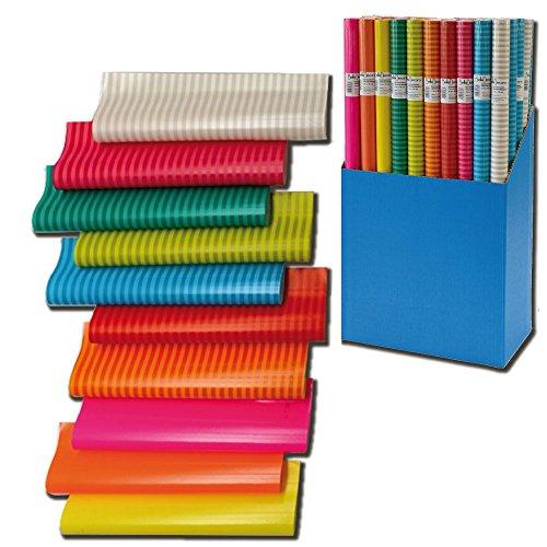6er Rollen Set Colour Mix Geschenkpapier 200 x 70 cm verschiedene Designs