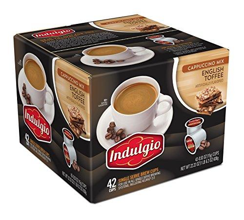 Indulgio English Toffee Cappuccino Single Serve K-cup,...