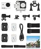 Kitvision Escape Wasserfeste Sport Action Camera Helmkamera HD5 Waterproof HD 720p mit Halterungsset und Wasserdichtem Gehäuse/Unterwassergehäuse für Unterwasserfotografie/Tauchen - Schwarz
