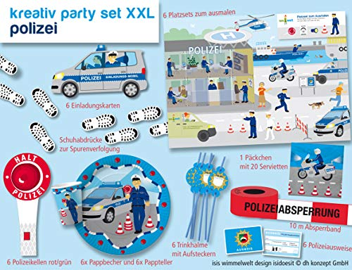 Polizeiparty-Set-XXL