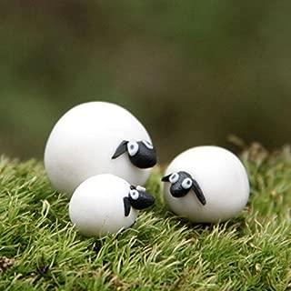COOLTOP 3pcs/set Mini Sheep Family Garden Fairy Ornament Figurine Plant Pot Bonsai Micro Landscape DIY Decor