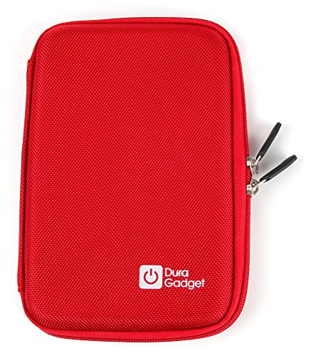 DURAGADGET Funda Rígida Roja para Yuntab Q88 | ¡Guarde Su Tableta De Una Manera Segura