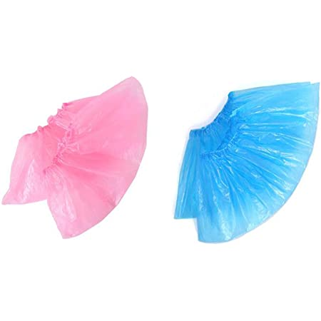 100Pcs Home Disposable Shoe Cover Blue Anti Slip Plastic Cleaning Overshoes Boo