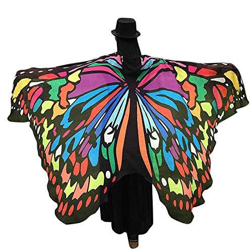 Honestyi Scialle Donna Invernale Ali delle Farfalle Scialle Sciarpe Le signore Nymph Pixie Pavone Poncho Costume Accessorio Mantelli Donne Danza Scialle di Partito