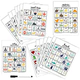Scavenger Hunt Game for Kids and Family - Set of 16 Different Treasure Hunts - Dry Erase Marker Included with Gift Card Game, Stocking Stuffers