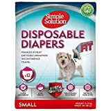 Simple Solution pañales desechables para perro hembra, pequeño (paquete de 12)