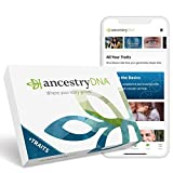 AncestryDNA + Traits: Genetic Ethnicity + Traits Test, AncestryDNA Testing Kit with 25+ Appeara…