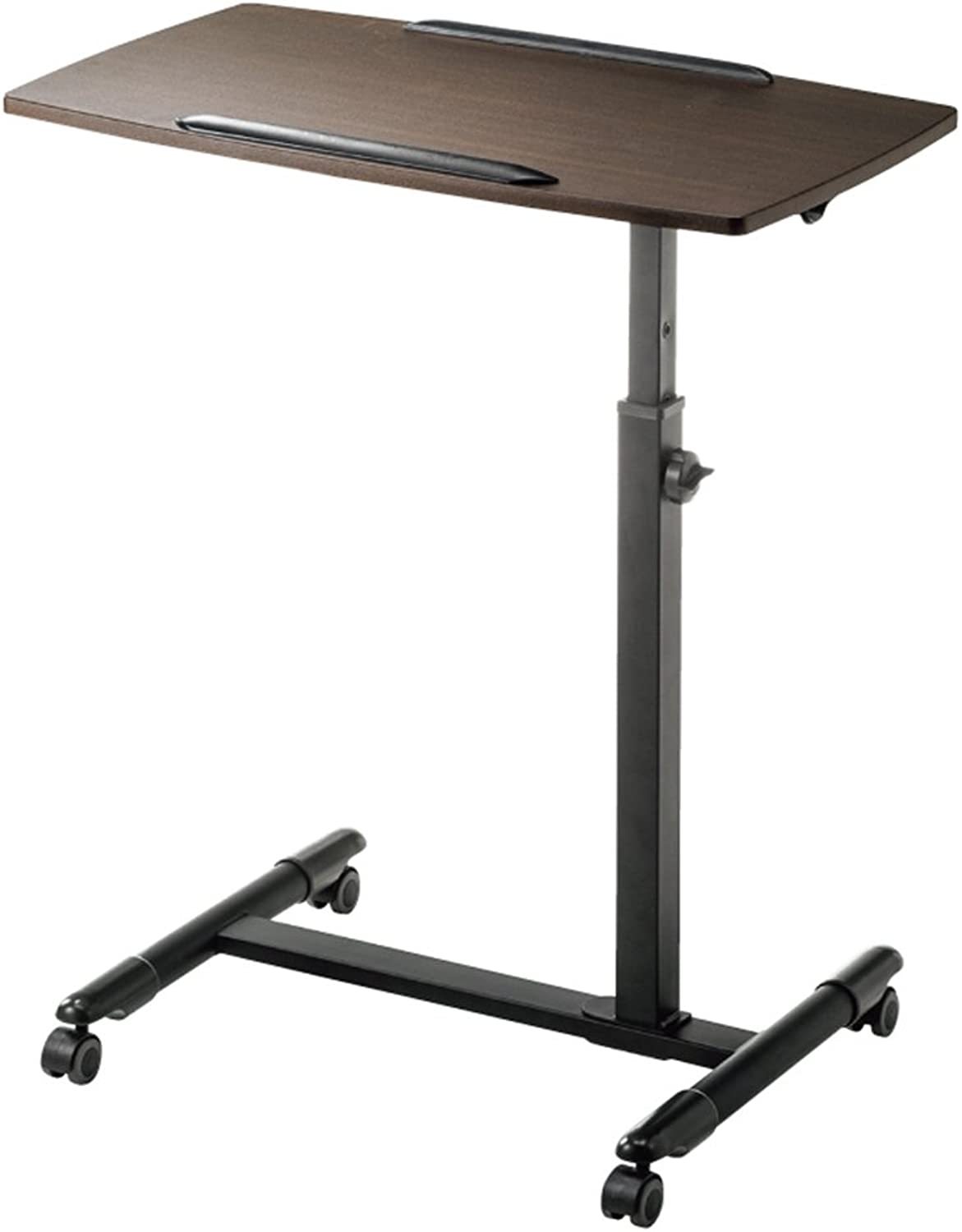 PENGFEI Laptop Stand for Desk Bedside Sofa Table Multifunction Portable Meeting Room Workstation Can Be Promoted and Lowered Pulley 4 colors, High 700-880MM (color   Brown)
