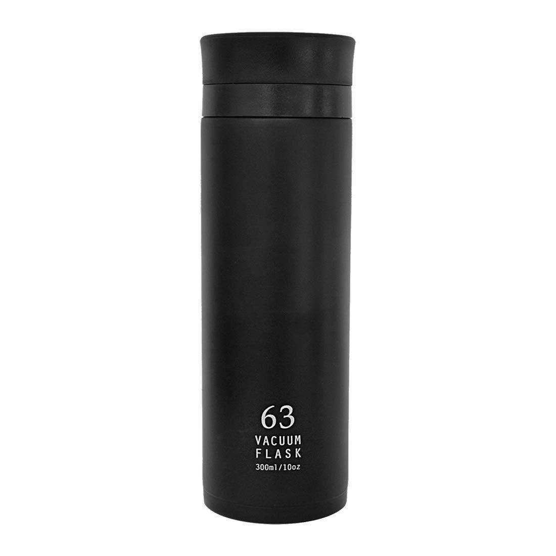 南海通商 ロクサン バキュームフラスク ブラック サイズ:約φ5.6 H18.1 0718-001