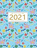 2021 Planner Weekly and Monthly: January to December: Botanical Cover (2021 Pretty Simple Planners)