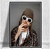 LGYJAL Kurt Cobain Rockmusik Band Sänger Star Wandkunst