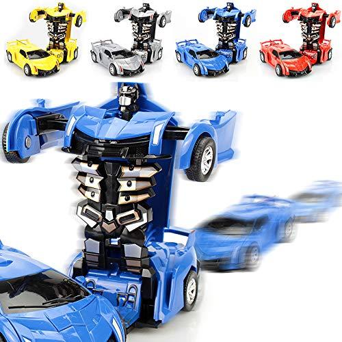 ACHICOO Inertia Crash PK Auto Verformungsroboter Actionfiguren Spielzeug für Kinder rot Spaßgeschenke für Kinder
