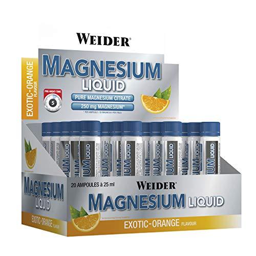 Weider, Magnesium Liquid, Exotic Orange, 1er Pack (20x 25ml)