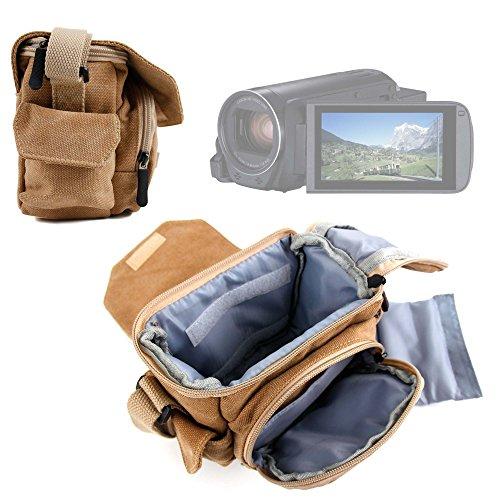 DURAGADGET Borsa/Custodia Marrone per Videocamera Canon Legria HF R806 | HF R86 | HF R88 | Seree HDV-S38 | HDV-S14 | HDV-520 | Pyrus C6 | PY24 con Int