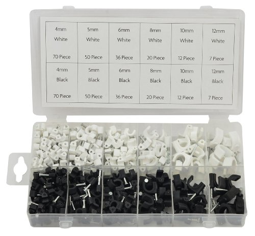 Rolson 61290 Cable Clip Assortment - 390 Pieces