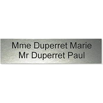 Grise 100x25mm plaque ou etiquette de boite aux lettres 3 lignes