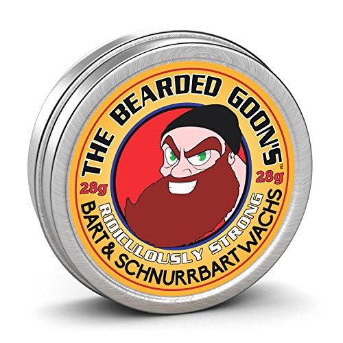 The Bearded Goon's Lächerlich Starke Beard & Handlebar Moustache Mustache Wax - 28g (30ml)