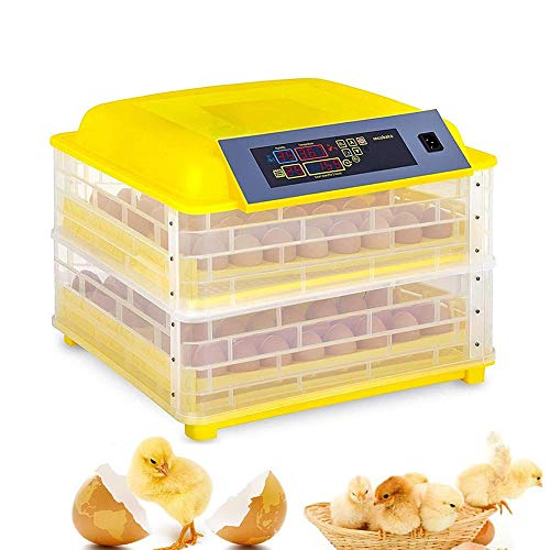 ZFF Incubators for Hatching Eggs Automatic Turning, for Chicken Duck Birds Digital Temperature Humidity Control Hatcher 112 Eggs (Size : 220V)
