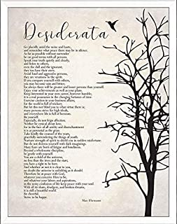 Baby Room Decorations for Boys Wall Desiderata Poem Magnetic Framed Art poem Wall Art Cute Wall Decorations for Living Room
