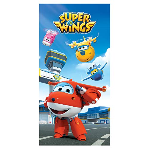 Super Wings - Toalla de algodón