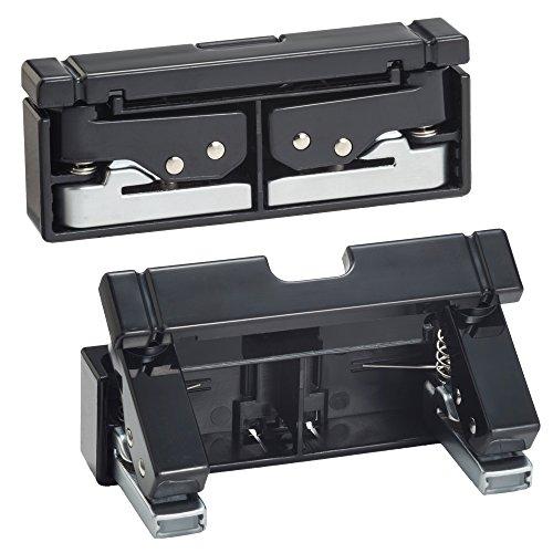 リヒトラブ コンパクトパンチ 2穴 黒 P1040-24