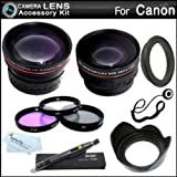 Deluxe All In Lens Kit For CANON VIXIA HF R82, HF R80, HF R800, HF R700, HF R72, HF R70 Ca...