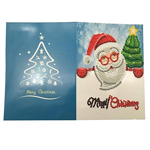 Doe-het-zelf 5D Frohe Kerstmis diamant schilderset kristallen diamant borduurwerk strass schilderij lijmen schilderen op cijfers steek kunst kit huis decoratie muur sticker 2