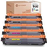 MYTONER Compatibile per Brother TN-242 TN242 Multipack Toner per Brother MFC-9332cdw MFC-9142cdn MFC-9342cdw HL-3142cw DCP-9022cdw DCP-9017cdw (2 nero / 1 ciano / 1 magenta / 1 giallo)