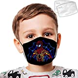 Cellova Unisex Kids Face Covering S-Pider-Man Reusable Auti for Boys and Girls -Color01-OneSize