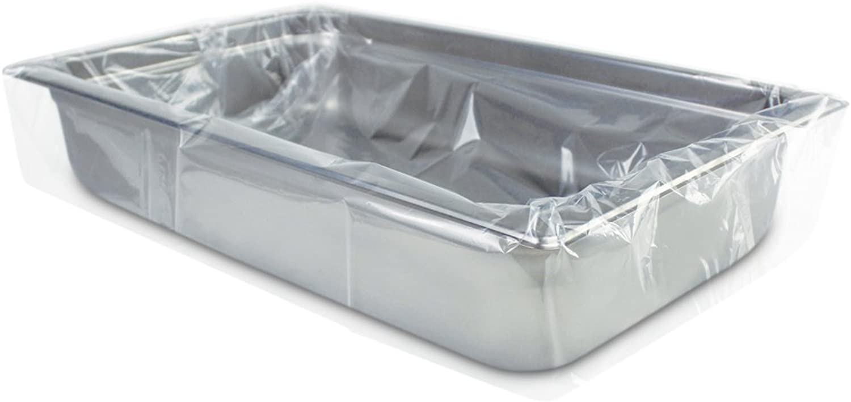 PanSaver 42001 Full Shallow Medium Pan Liner, 34  x 12 , Clear