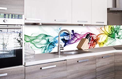 DIMEX LINE Küchenrückwand Folie selbstklebend Rauch | Klebefolie - Dekofolie - Spritzschutz für Küche | Premium QUALITÄT - Made in EU | 260 cm x 60 cm