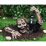 Halloween Decoration Zombie Lanterns Resin Statue Realistic Horror Sculpture Garden Ornaments Handmade Crafts