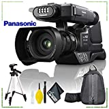 Panasonic HC-MDH3 AVCHD Shoulder Mount Camcorder with LCD Touchscreen PAL + Backpack Bundle + Cleaning Kit