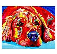 数字で描くタイガー手描きギフトDIYキットアクリルキッズペイント数字で着色動物の家の装飾40×50cm(フレームなし)